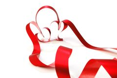 Ribbon hearts Stock Images