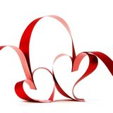 Ribbon hearts Royalty Free Stock Photo