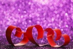 Ribbon hearts Stock Photography