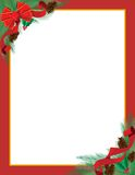 Ribbon Holiday Frame Royalty Free Stock Images