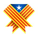 Ribbon of independence Catalonia. Stock Images