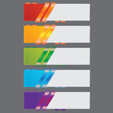 Ribbon infographics number banners template or website layout. Vector. Illustration Royalty Free Stock Photography
