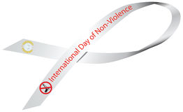 Ribbon International Day of Non-Violence Royalty Free Stock Images