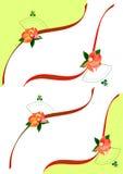 Ribbon invitation card Stock Photos