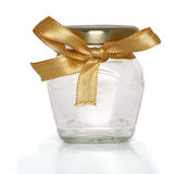 Ribbon jar Stock Photography