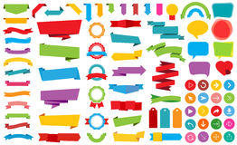Ribbon Labels Stickers Banners Vector Royalty Free Stock Image