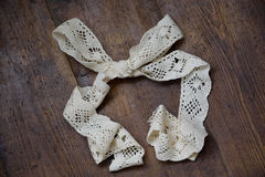 Ribbon. Lace ribbon in a bow Royalty Free Stock Photo