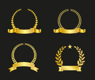 Ribbon And Laurel Wreath Royalty Free Stock Photography