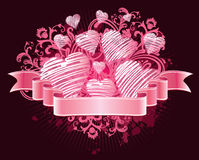 Ribbon love. Vector illustration of Ribbon love Stock Illustration