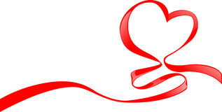 Ribbon of love Stock Image