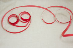 Ribbon of love. Spinning love, in circles of happiness and faith to live well Stock Photo