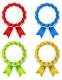 Ribbon medallions Royalty Free Stock Image