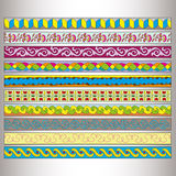 Ribbon motif Tatars Royalty Free Stock Photography