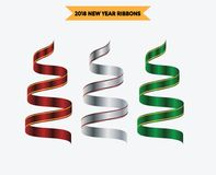 Ribbon multicolour vector collection set. You can use web app and other Stock Image