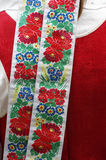 Ribbon national costume Royalty Free Stock Images