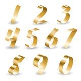 Ribbon Number Set Royalty Free Stock Photography