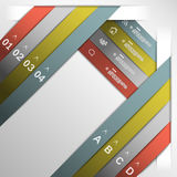 Ribbon option template eps10 Royalty Free Stock Image