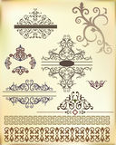 Ribbon ornament-02. Band from Arabic floral ornament. Vector Stock Photography