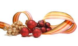 Ribbon and Ornaments Stock Image