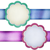 Ribbon with paper stick icons. Royalty Free Stock Images