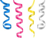 Free Ribbon Paper Streamers Stock Photos - 167383543