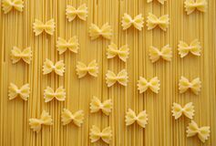 Ribbon Pastry Pasta on Fettuccini Stock Image