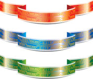 Ribbon with PCB Stock Photo