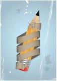 Ribbon and pencil Royalty Free Stock Photos