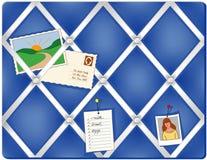 Ribbon Pin Board, Blue Stock Images