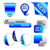 Ribbon, pointer, corner, arrow, button, option Royalty Free Stock Photography