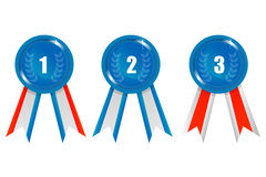 Ribbon prizes Royalty Free Stock Photography