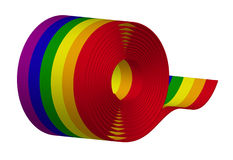Ribbon - Rainbow Stock Photo