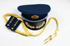 Ribbon ranks and a cap of Chinese Air Force Stock Photo