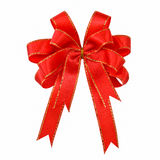 Ribbon red bow. Isolated on white background Stock Photo