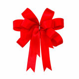 Ribbon red bow. Isolated on white background Royalty Free Stock Photography