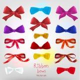 Ribbon red bow Stock Image