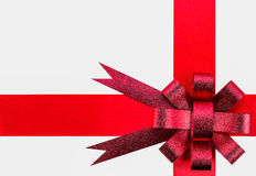 Ribbon and red bow Royalty Free Stock Photography