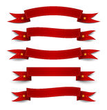 Ribbon red Stock Photos