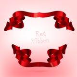 Ribbon red Stock Photo