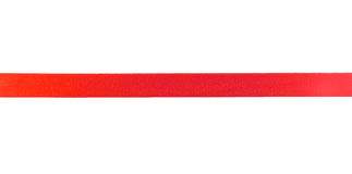 Ribbon. Red ribbon isolated on white background Stock Photography