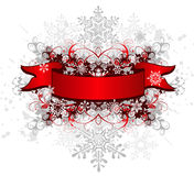 Ribbon, ribbon & snowflakes Royalty Free Stock Photo