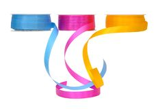 Ribbon rolls Royalty Free Stock Image
