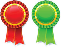 Ribbon Rosette Stock Photos