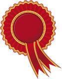 Ribbon rosette. Award Rosette Seal color vector Stock Photo