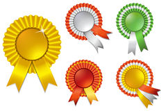 Ribbon rosette awards Royalty Free Stock Photo