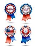 Ribbon, rosettes - Independence day celebration Royalty Free Stock Photo