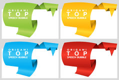 Ribbon rounded banners for top. Price tag template for catalog. Color stickers. Vector. Illustration stock illustration
