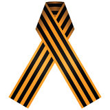 Ribbon of Saint George. The ribbon consists of a black and orange bicolour pattern, with three black and two orange stripes. Vector illustration Stock Photo