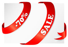 Ribbon with Sale Stock Photo
