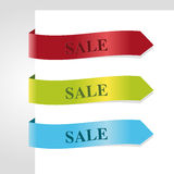 Ribbon sale Set vector illustration Royalty Free Stock Photo
